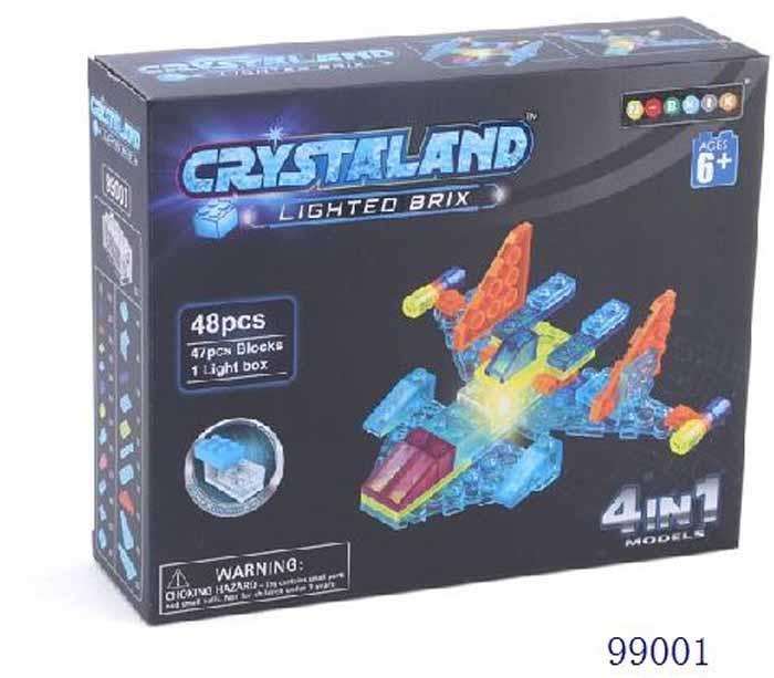 Crystaland Конструктор Самолет 4 в 1