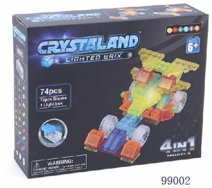 Crystaland Конструктор Гоночный автомобиль 4 в 1 crystaland конструктор истребитель 6 в 1