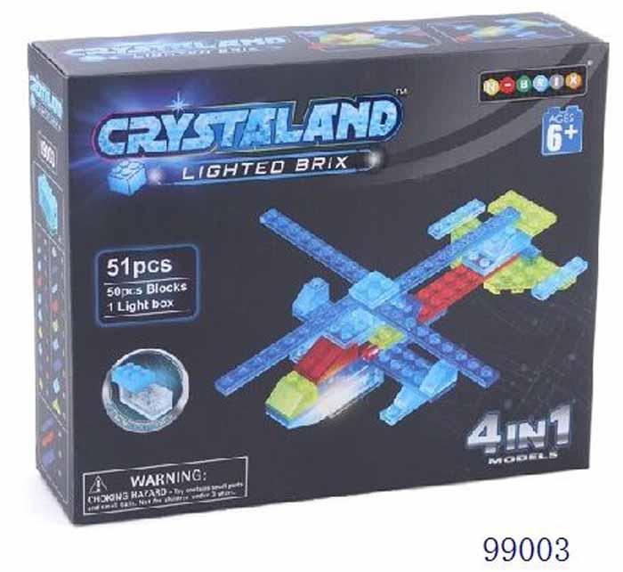 Crystaland Конструктор Вертолет 4 в 1 фиксики конструктор вертолет 4 в 1