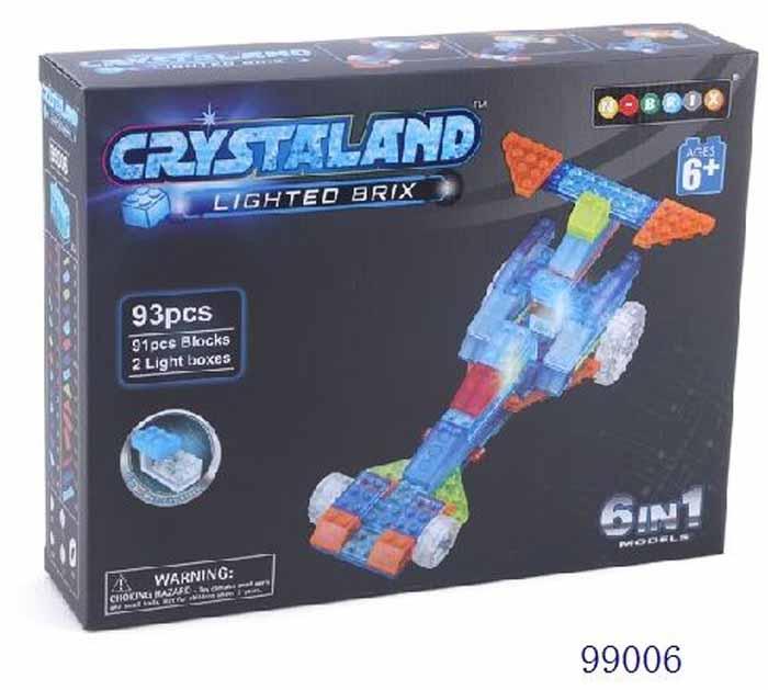 Crystaland Конструктор Гоночный болид 6 в 1