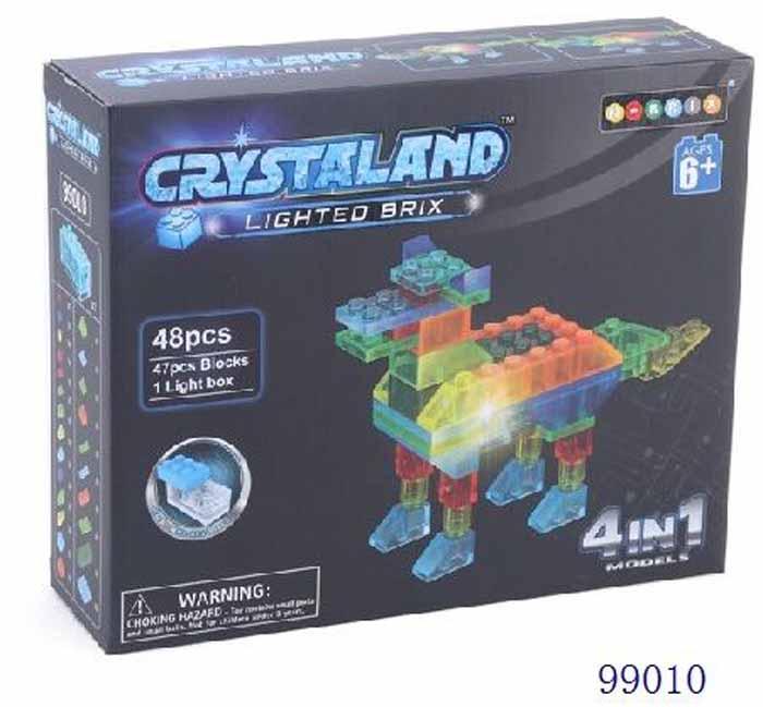 Crystaland Конструктор Животные 4 в 1 99010 crystaland конструктор истребитель 6 в 1