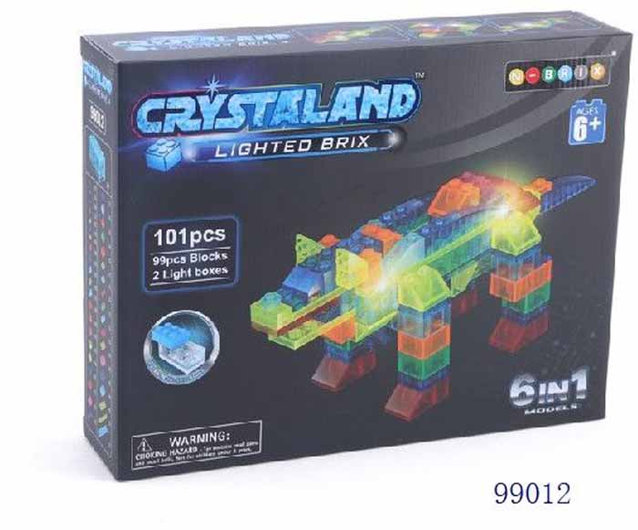 Crystaland Конструктор Животные 6 в 1 99012 конструктор crystaland shg006 истребитель 4 в 1 67 дет