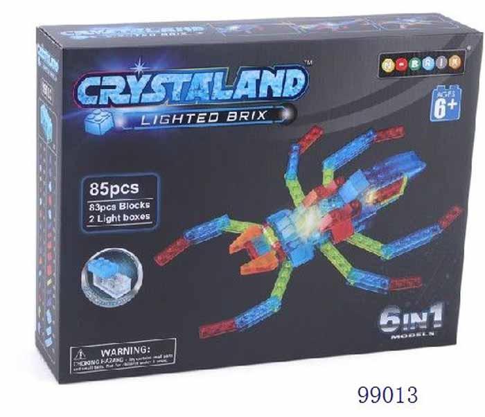 Crystaland Конструктор Животные 6 в 1 99013 конструктор crystaland shg006 истребитель 4 в 1 67 дет