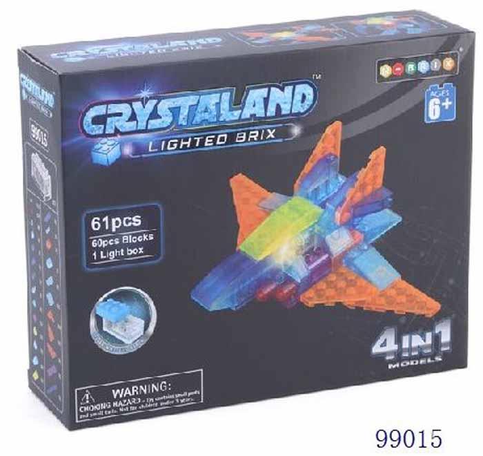 Crystaland Конструктор Космический самолет 4 в 1 конструктор crystaland shg006 истребитель 4 в 1 67 дет