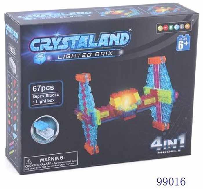 Crystaland Конструктор Космический корабль 4 в 1 конструктор crystaland shg006 истребитель 4 в 1 67 дет