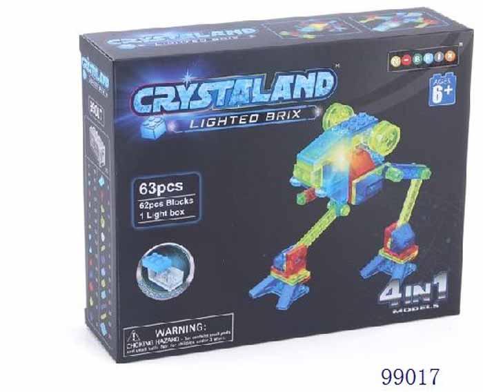 Crystaland Конструктор Луноход 4 в 1 конструктор crystaland shg006 истребитель 4 в 1 67 дет