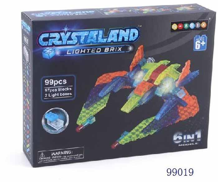 Crystaland Конструктор Самолет-разведчик 6 в 1 конструктор crystaland shg006 истребитель 4 в 1 67 дет