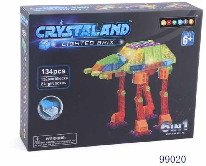 Crystaland Конструктор Шагающий луноход 6 в 1 конструктор crystaland shg006 истребитель 4 в 1 67 дет