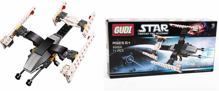 Gudi Конструктор Звездный десант 8606А детская игрушка gudi kase 4soldiers