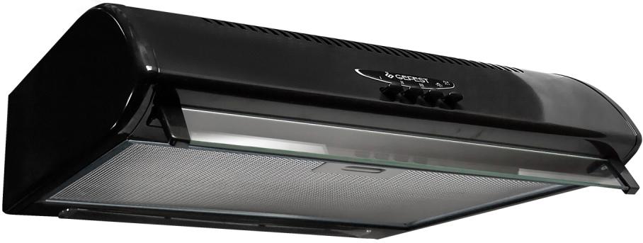 Gefest ВО 2501 К41, Black вытяжка35202Воздухоочиститель,угольные кассетные фильтры, металлические рамочные фильтры, кнопочное управление, циркуляционный и вятяжной режим, три режима работы вентилятора. Цвет черный.