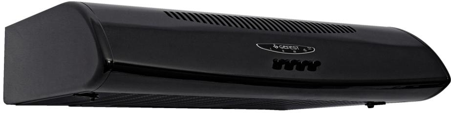 Gefest ВО 2601 К41, Black вытяжка35204Воздухоочиститель, угольные кассетные фильтры, металлические сетчатые фильтры, кнопочное управление, циркуляционный и вытяжной режим, три режима работы вентилятора. Цвет черный.