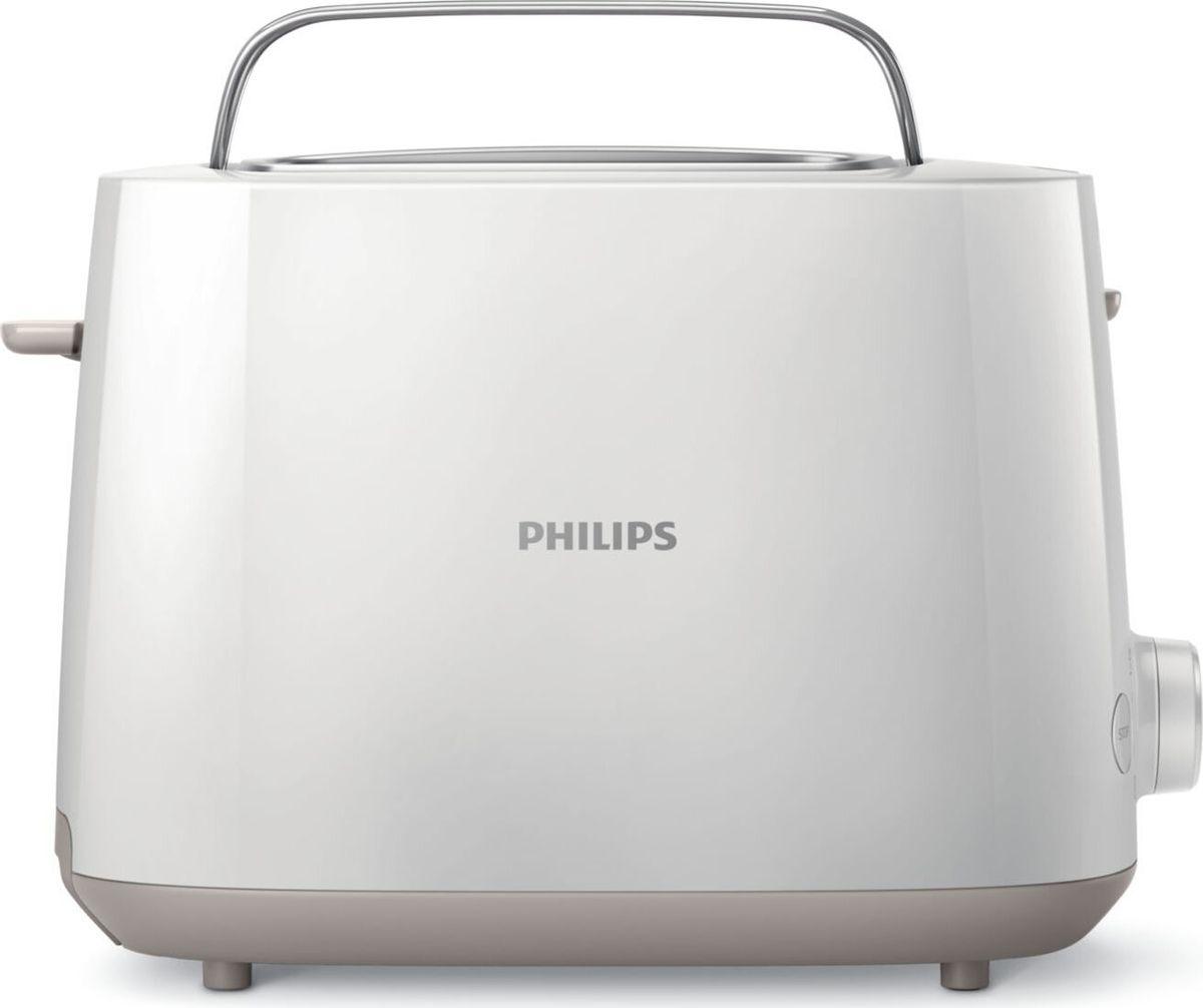 Philips HD2581/00, White тостерHD2581/00Компактный тостер Philips HD2581/00 с 8 режимами поджаривания оснащен двумя большими регулируемыми отделениями, поэтому вы можете готовить равномерно подрумяненные тосты вне зависимости от вида хлеба. Встроенная подставка для булочек позволяет легко подогревать пирожки, блинчики и другие мучные изделия.Благодаря 8 режимам поджаривания вы можете готовить тосты из различных видов хлеба, не опасаясь, что они подгорят. Регулируйте степень поджаривания в соответствии со своими предпочтениями для приготовления вкусных тостов.Два больших регулируемых отделения подходят для тостов разного размера. Благодаря функции автоматического центрирования тост размещается по центру и равномерно подрумянивается с обеих сторон.Функция разогрева позволяет подогреть тост за считаные секунды, а с помощью функции разморозки можно быстро приготовить замороженный хлеб.Вы можете в любое время завершить процесс, нажав кнопку отменыСпециальный подъемник позволяет легко доставать небольшие ломтики хлебаАвтоотключение для дополнительной защиты прибора от короткого замыкания