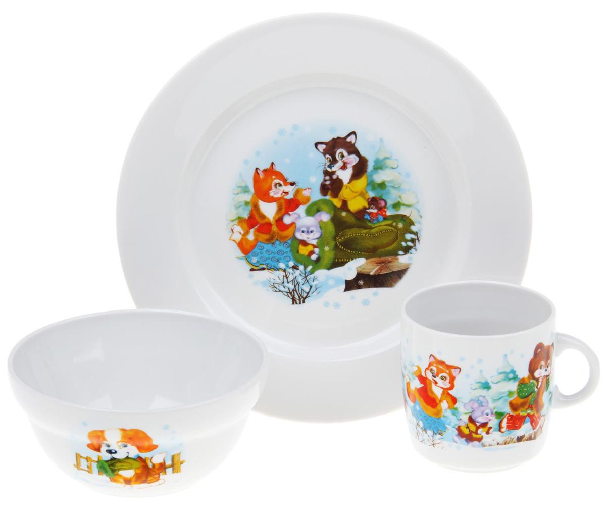 Набор детской посуды Фарфор Вербилок