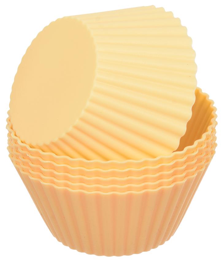 Набор форм для выпечки Marmiton Кексы мини, цвет: оранжевый, 6 шт. 1116011160_оранжевыйНабор Marmiton Кексы мини состоит из шести круглых форм для выпечки, выполненных из силикона. Благодаря тому, что форма изготовлена из силикона, готовый лед, выпечку или мармелад вынимать легко и просто.Материал устойчив к фруктовым кислотам, может быть использован в духовках, микроволновых печах и морозильных камерах (выдерживает температуру от -40°C до +230°C). В комплект входит брошюра с рецептами.Можно мыть и сушить в посудомоечной машине.Диаметр формы (по верхнему краю): 7 см.Высота формы: 2,5 см.Уважаемые клиенты! Обращаем ваше внимание на то, что упаковка может иметь несколько видов дизайна. Поставка осуществляется в зависимости от наличия на складе.