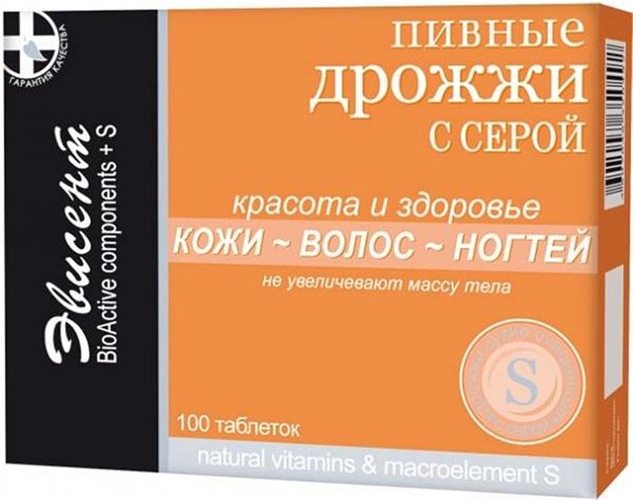 Эвисент Дрожжи пивные с серой №60201606Эвисент Пивные дрожжи с серой способствуют оздоровлению кожи, улучшает состояние волос и ногтей, поддерживает естественный обмен веществ. Сфера применения: ВитаминологияВитамины группы В