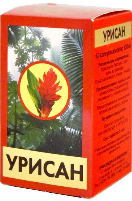 Урисан капсулы 550 мг №60202893Биологически активная добавка к пище, источник куркумина, флавоноидов (кверцетина), кремния и эфирного масла. Урикозурическое, диуретическое. Сфера применения: УрологияОбщеукрепляющее