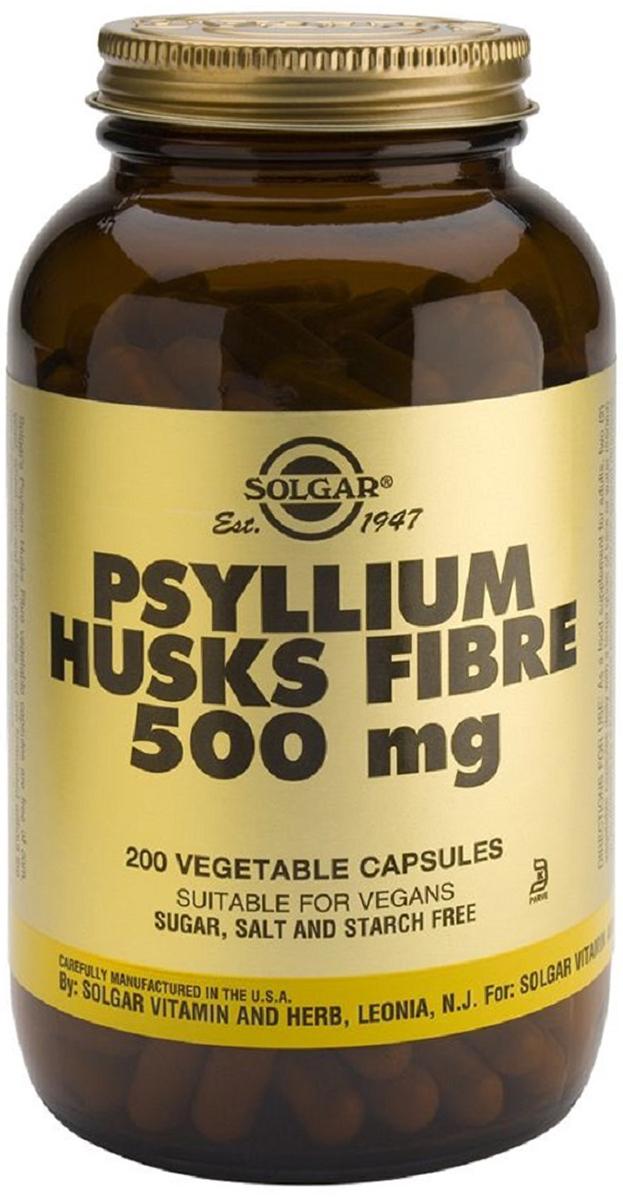 Солгар Псиллиум пищевые волокна капсулы 500 мг №200 - Аптека
