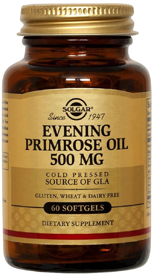 Солгар Масло примулы вечерней капсулы 500 мг №60203853Масло примулы вечерней - источник омега-6 жирных кислот, которые способствуют снижению симптомов ПМС (предменструального синдрома). В комплексной терапии позволяет уменьшить зуд и воспаление при различных кожных заболеваниях (дерматит, экзема, псориаз). Сфера применения: ВитаминологияМакро- и микроэлементы