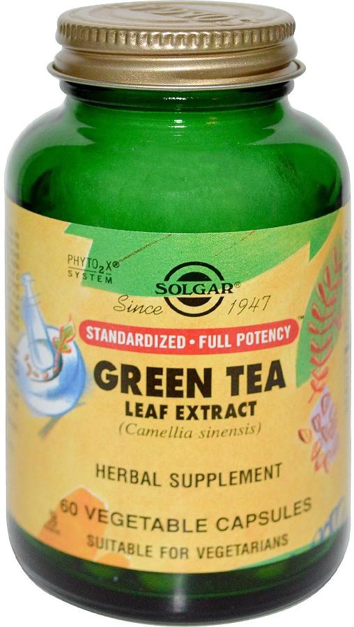 Экстракт листьев зеленого чая Солгар, 60 капсул209634Полифенолы, находящиеся в этом растении, гораздо более активны, чем витамины С и Е. Создавая мощный антиоксидантный блок, они способствуют очищению oрганизма от ядов и шлаков и защищают сердечно - сосудистую и кровеносную системы от различных заболеваний. Зеленый чай не только препятствует возникновению и развитию раковых клеток, но и предотвращает генетическую мутацию клеток, возникающую в результате курения. Исследования, проведенные в Японии, показали на большие возможности этого растения в профилактике онкологических заболеваний, особенно рака груди, желудка, поджелудочной железы и толстой кишки. При ежедневном употреблении экстракта зеленого чая снижается уровень холестерина, а так же предотвращается процесс окисления плохого холестерина (LDL), котроый приводит к образованию бляшек на стенках сосудов, ведущих к нарушению кровообращения и атеросклерозу.Сфера применения: ВитаминологияМакро- и микроэлементы