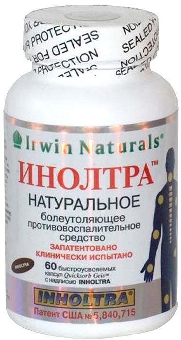 БАД Инолтра, 60 капсул26877Биологически активная добавка (БАД) к пище. Противовоспалительное, хондропротективное действие.Перед применением БАД к пище Инолтра необходима консультация врача.Следует учитывать, что суточное количество растительных компонентов, поступающих с БАД к пище Инолтра, ниже доз, используемых с лечебной целью. Омега -3 полиненасыщенные жирные кислоты оказывают противовоспалительное и анальгезирующее действие.Глюкозамины (D-глюкозамин сульфат и N-ацетил D-глюкозамин) обеспечивают структурную целостность хряща, формируют микроструктуры, которые придают хрящу прочность и противостоят давлению. Являются главным компонентом синовиальной жидкости, которая осуществляет смазку суставов и позволяет им двигаться ровно и безболезненно. Хондроитина сульфат - структурная молекула,в большом количестве присутствующая в хряще. Принадлежит к группе глюкозаминогликанов - модифицированных сахаров.Способствует удержанию воды в хряще, что очень важно для его амортизирующей функции. Обладает противовоспалительным действием. Эйкозанпентаеновая (EPA) и докозангексаеновая (DHA) кислоты подавляют аутоиммунные реакции, уменьшают отечность при воспалении суставов (в т.ч. ревматоидном артрите). Гамма-линоленовая кислота (GLA) оказывает антипролиферативное действие.Аскорбилпальмитат (высокоэффективная жирорастворимая форма витамина C) в комбинации с витамином E проявляет антиоксидантные свойства, предохраняет от окисления полиненасыщенные жирные кислоты (EPA, DHA и GLA). Марганца аспарат участвует в усвоении сульфата хондроитина, а также увеличивает активность митохондроидальной супероксиддисмутазы. Сфера применения: ревматология, хондропротектирующее.
