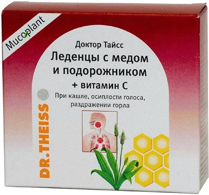 Доктор Тайсс Леденцы с медом и подорожником+вит. С 50г27150Благотворно воздействуют на верхние дыхательные пути, обладают успокаивающим действием при раздражении горла. Сфера применения: ОториноларингологияПротив гриппа и простуды