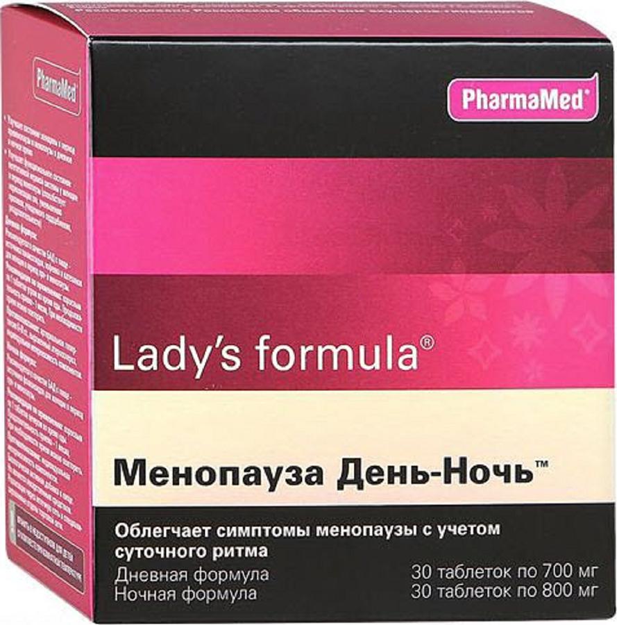 Леди-С Формула Менопауза День-Ночь табл №30+30 (Дневная формула таблетки №30 + Ночная формула табл №30) ледис формула для волос 30 таблетки