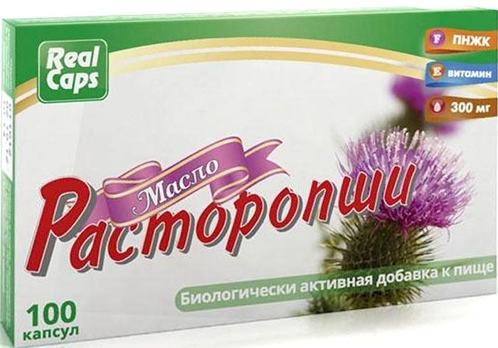 Масло Расторопши капсулы 0.3г №100, нет