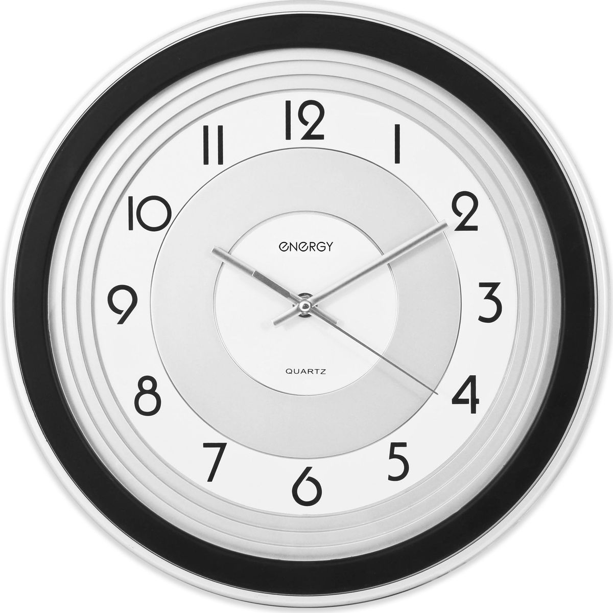 Energy ЕС-10 настенные часыЕС-10Настенные кварцевые часы с плавным ходом Energy ЕС-10 имеют оригинальный яркий дизайн и поэтому подойдутдля вашего дома или офиса, декорированного в подобном стиле. Крупные цифры черного цвета отличноразличимы даже в условиях плохого освещения. Питание осуществляется от 1 батарейки типа АА (в комплект невходит).Размер 32,8 см х 4,3 см