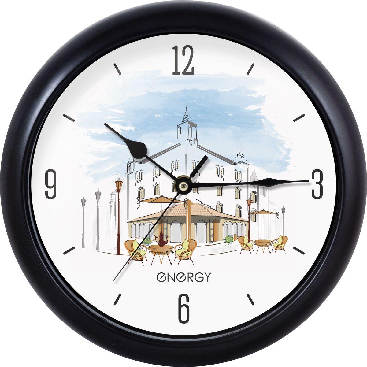 Настенные кварцевые часы с плавным ходом Energy ЕС-105 имеют оригинальный яркий дизайн и поэтому подойдут для вашего дома или офиса, декорированного в подобном стиле. Крупные цифры отлично различимы даже в условиях плохого освещения. Питание осуществляется от 1 батарейки типа АА (в комплект не  входит).