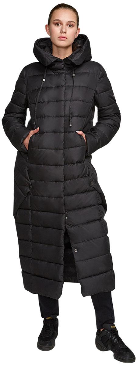 Пальто женское Grishko, цвет: черный. AL-3299. Размер 48AL-3299Ультрамодное пальто от Grishko прямого кроя с оригинальными деталями по бокам, застегивается на молнию и кнопки, карманы прорезные, капюшон не отстегивается.