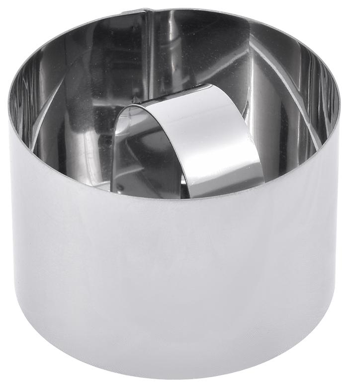 Форма для выкладки салатов и гарниров Marmiton, с прессом, круглая, 8 х 8 х 4 см17095Форма для выкладки салатов и гарниров Marmiton изготовлена из нержавеющей стали. Изделие предназначено для декорирования блюд. С помощью формочки можно придать правильную форму салату, гарниру, яичнице или омлету, вырезать идеальные фигуры из теста. Просто выложите в формочку продукт и придавите его прессом. Аккуратно снимите формочку, придерживая пресс. Любая хозяйка сможет почувствовать себя шеф-поваром и удивить гостей не только вкусным блюдом, но и его красивой правильной подачей.Уважаемые клиенты! Обращаем ваше внимание на то, что упаковка может иметь несколько видов дизайна. Поставка осуществляется в зависимости от наличия на складе.