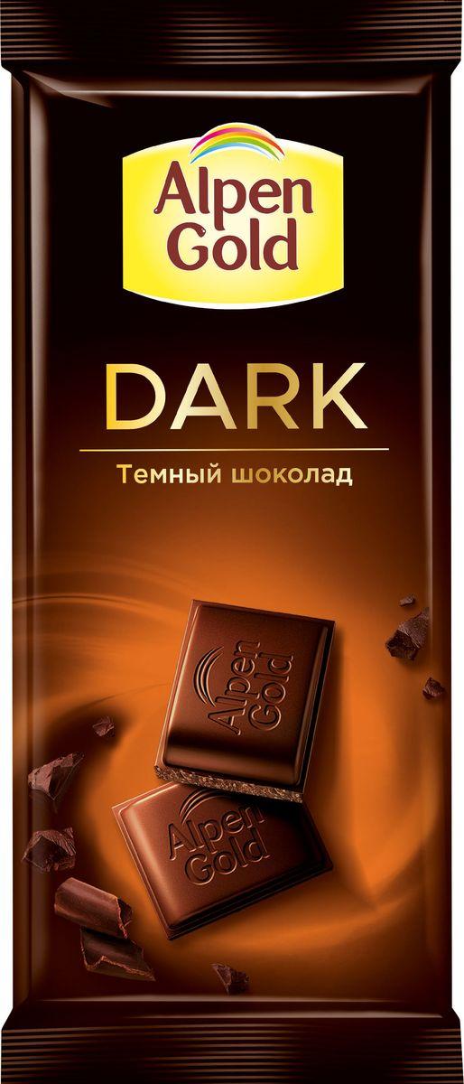 Аlpen Gold темный шоколад, 85 г alpen gold шоколад белый с миндалем и кокосовой стружкой 90 г