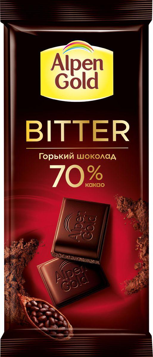 Аlpen Gold горький шоколад, 85 г alpen gold шоколад с печеньем оreo со вкусом арахисовой пасты 95 г