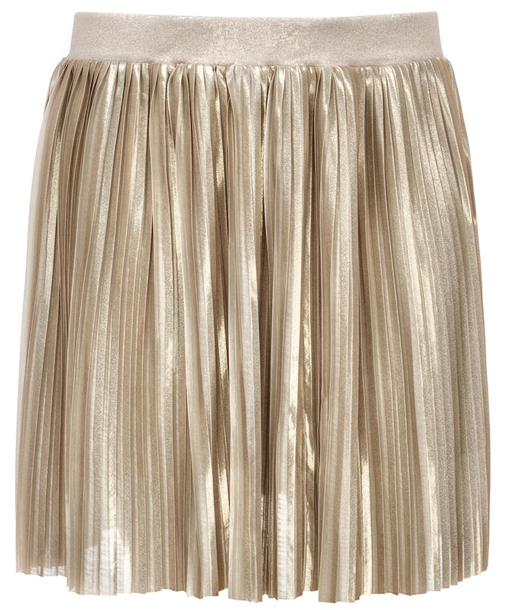 Юбка для девочки Nota Bene, цвет: бежевый. 17422030118. Размер 11017422030118Юбка Nota Bene изготовлена из качественного полиэстера. Юбка со складками из струящейся ткани дополнена эластичной резинкой на талии.