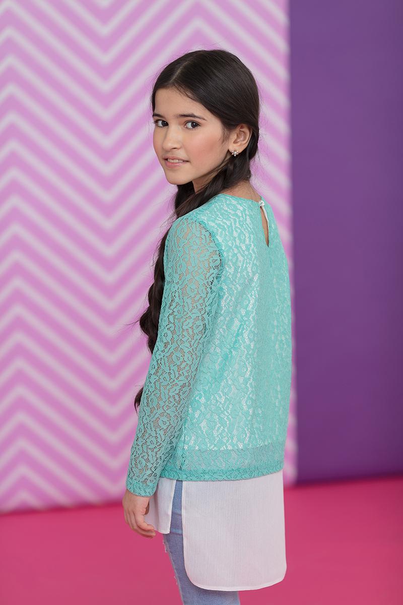 Туника для девочки Nota Bene, цвет: мятный. 17421100187. Размер 13417421100187