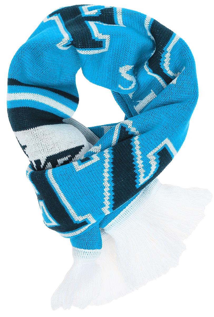 Шарф Atributika & Club ФК Зенит, цвет: голубой, белый. 06309. Размер универсальный06309