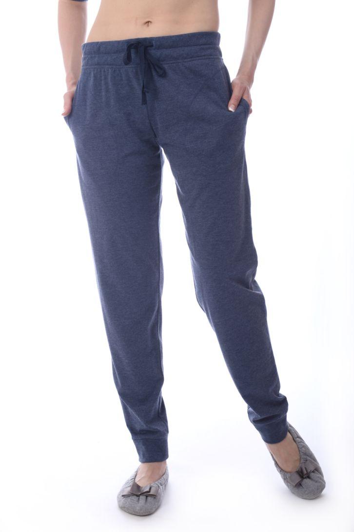 Брюки для дома женские Melado Ривьера, цвет: индиго. ML2864/01. Размер 50ML2864/01Стильные укороченные брюки из мягкой ткани на манжете. Отлично подходят для дома и отдыха.