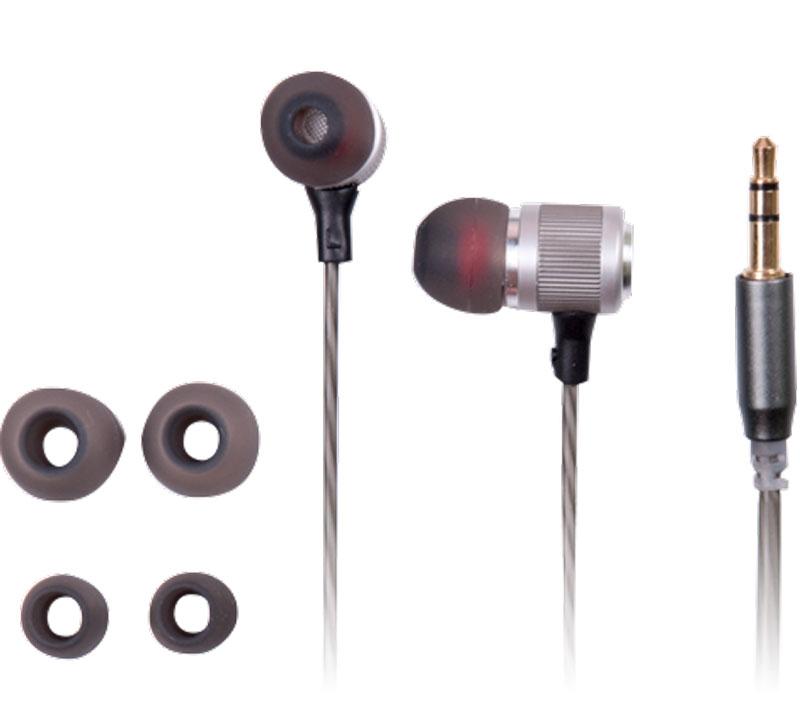 Ritmix RH-135, Space Grey наушники15119361Ritmix RH-135 – это портативные наушники-вкладыши в алюминиевом корпусе, предназначенные для использования с телефонами, планшетами и MP3- плеерами.