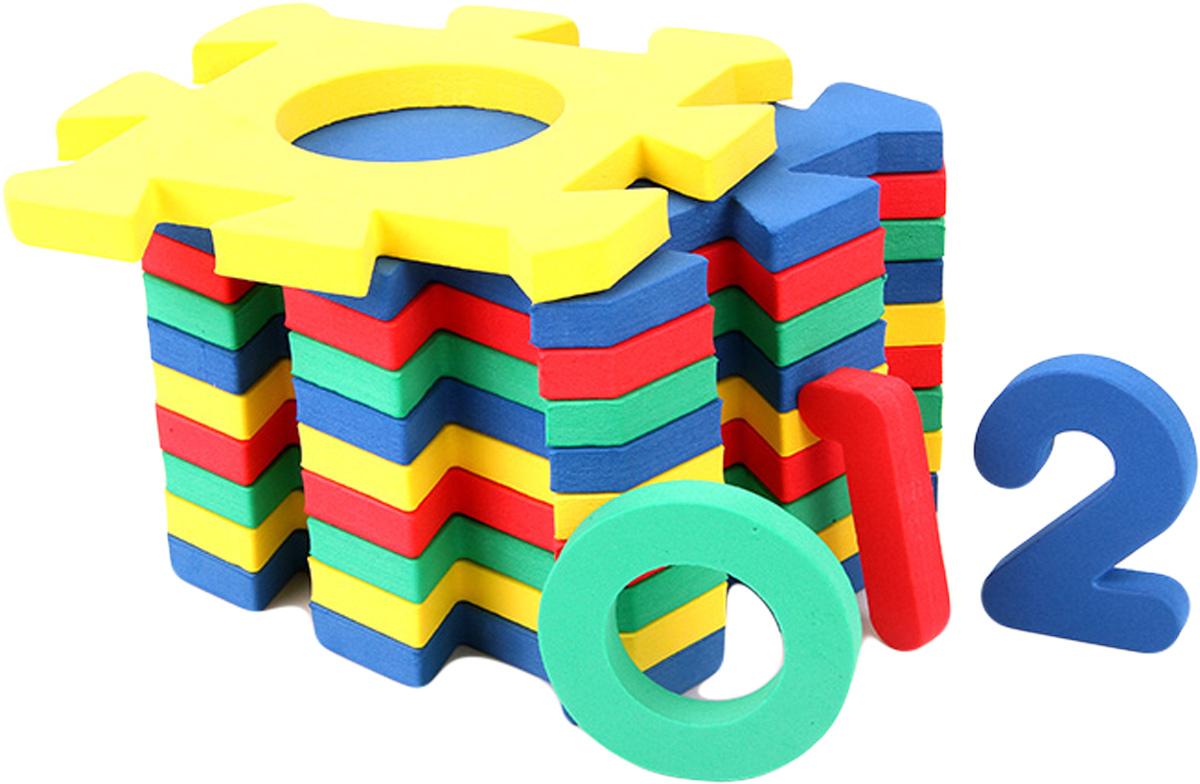 Бомик Пазл для малышей Коврик Цифры флексика пазл для малышей геометрия цвет основы красный
