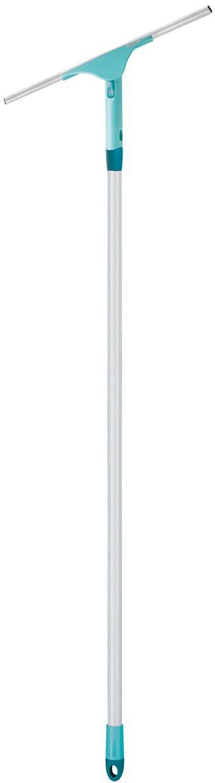 Щетка хозяйственная Leifheit Powerslide, с резинкой, цвет: бирюзовый, 40 см. 5152020244_белый, голубойЩетка хозяйственная Leifheit Powerslide предназначена для мытья окон. Подвижный шарнир с фиксатором на ручке идеально подходит для труднодоступных окон, например, окон верхнего света.