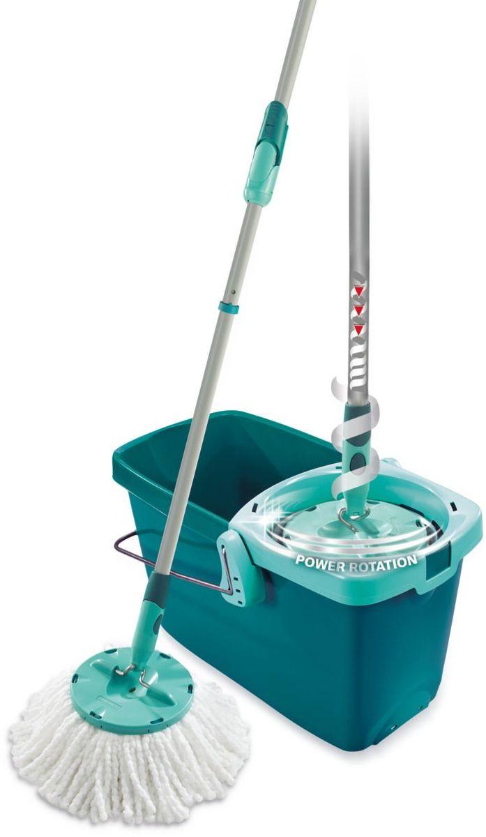 Комплект для уборки Leifheit Clean Twist Mop, цвет: бирюзовый, 2 предмета. 52019 комплект для уборки ламината и паркета leifheit care&protect 5 предметов