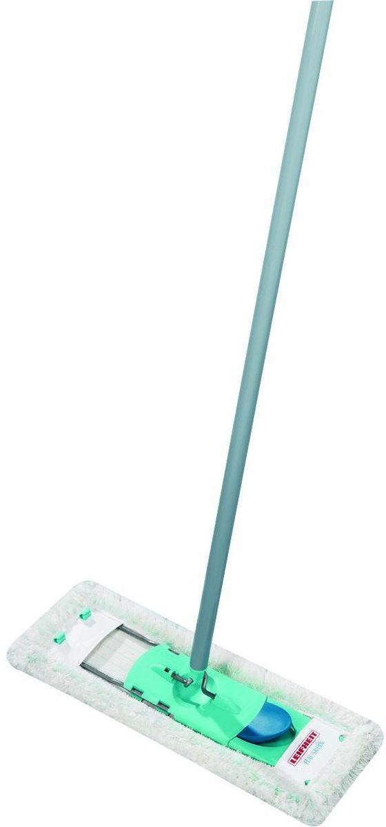 Швабра хозяйственная для пола Leifheit Hausrein. Wet, цвет: серый, бирюзовый leifheit 52019 clean twist mop комплект швабра моп ведро с механизмом отжима