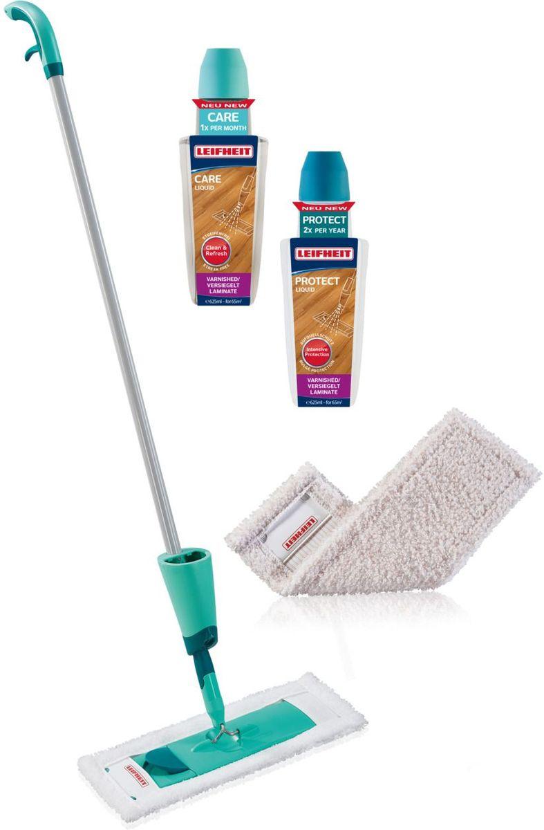 Комплект для уборки ламината и паркета Leifheit Care&Protect, 5 предметов коврик напольный floortex fc1213017ev прямоугольный для паркета ламината пвх 120х130см