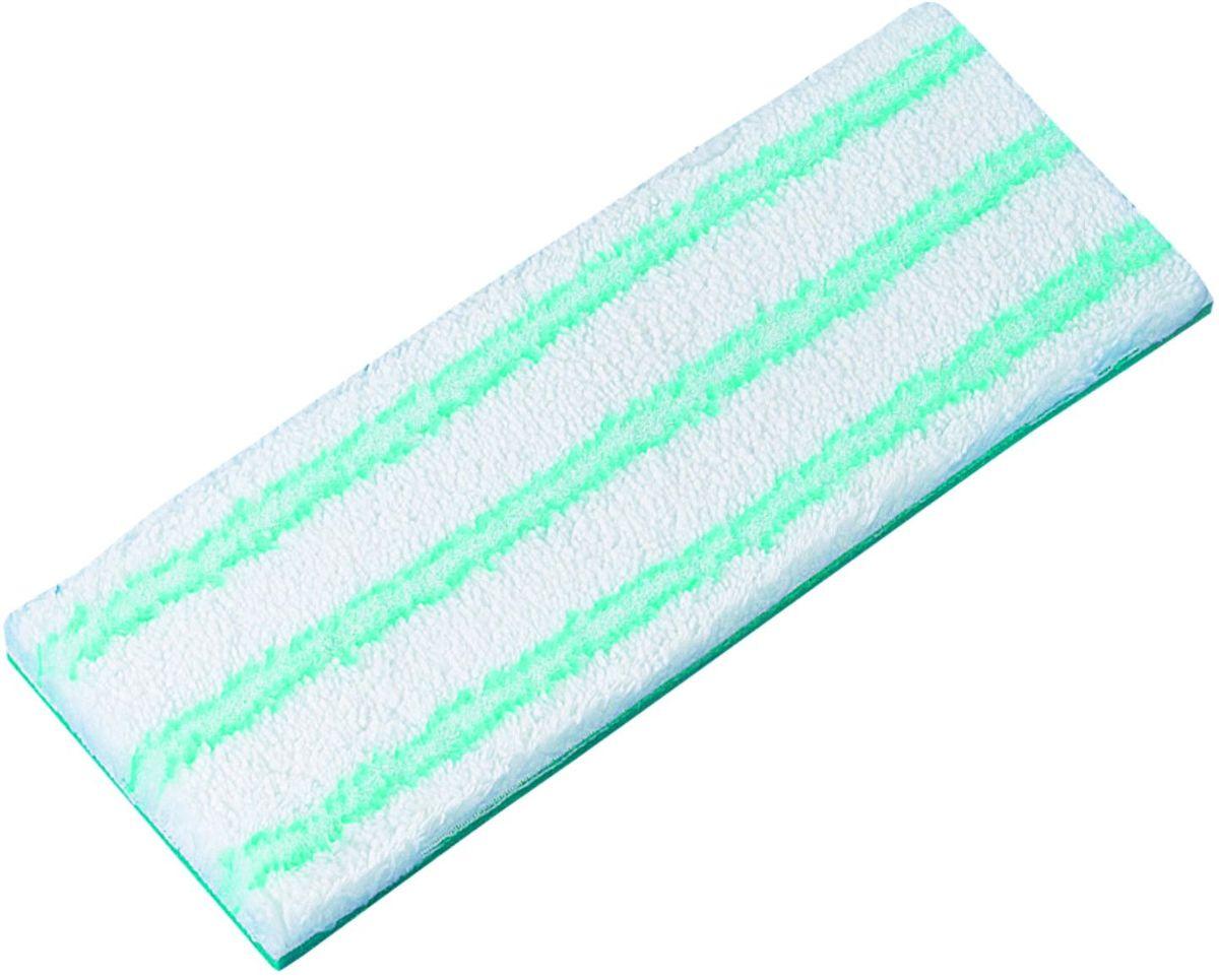 Насадка на швабру Leifheit Micro Duo М, цвет: бирюзовый56610Сменная насадка для швабры из специального материала micro duo для швабр Piccolo. Легко и надежно прикрепляется к основанию швабры при помощи липучки.Материал: микрофибра. Размер: 27 х 10 см.