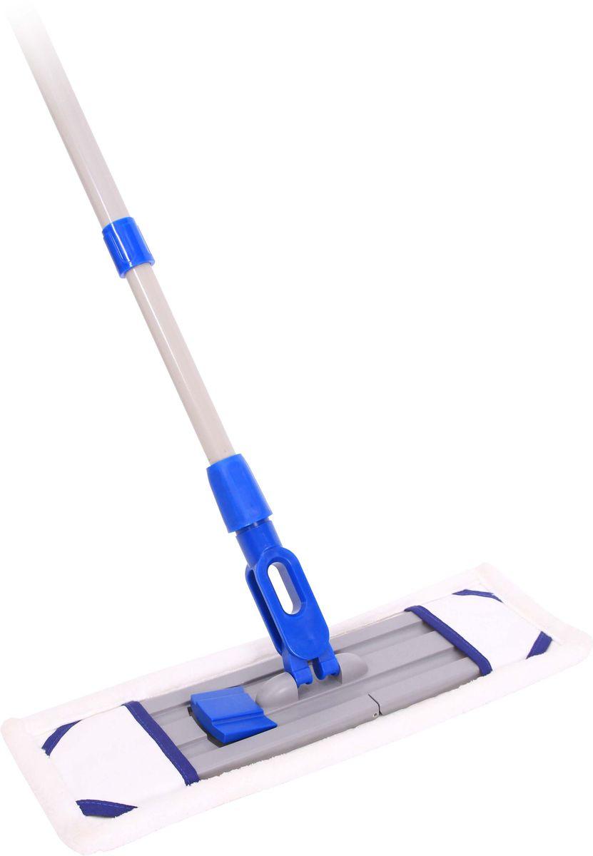 Швабра Hausmann Professional, с телескопической ручкой, цвет: синий, 120-190 смHM-1674Швабра Professional с ручкой 120-190 см с насадкой из микрофибры с нейлоновыми вставками. Смена насадки при помощи ножной педали. Вставка из плотного поролона для удобной уборки. Более прочный пластик, уплотненные ребра жесткости. Микроволокна микрофибры благодаря малому диаметру сечения нити обладают повышенной впитывающей способностью и поглощают любые загрязнения.