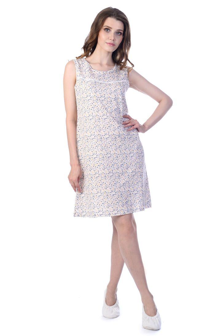 Ночная рубашка женская Melado Мадлен, цвет: белый, индиго. MH2024/02. Размер 50MH2024/02Удобная ночная рубашка от Melado с открытыми плечами выполнена из нежного и приятного полотна. Круглый вырез горловины. Длина выше колена.