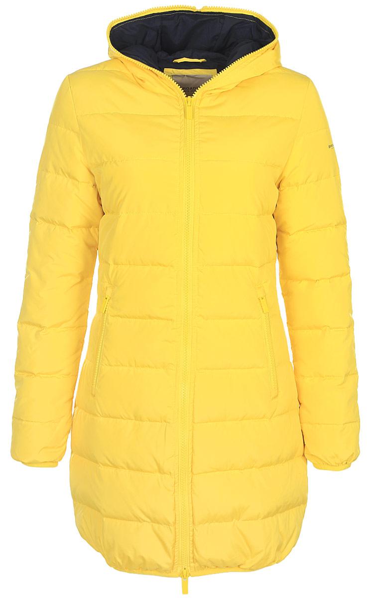 Пуховик женский Broadway, цвет: желтый. 10131049 140. Размер XL (50)10131049 140