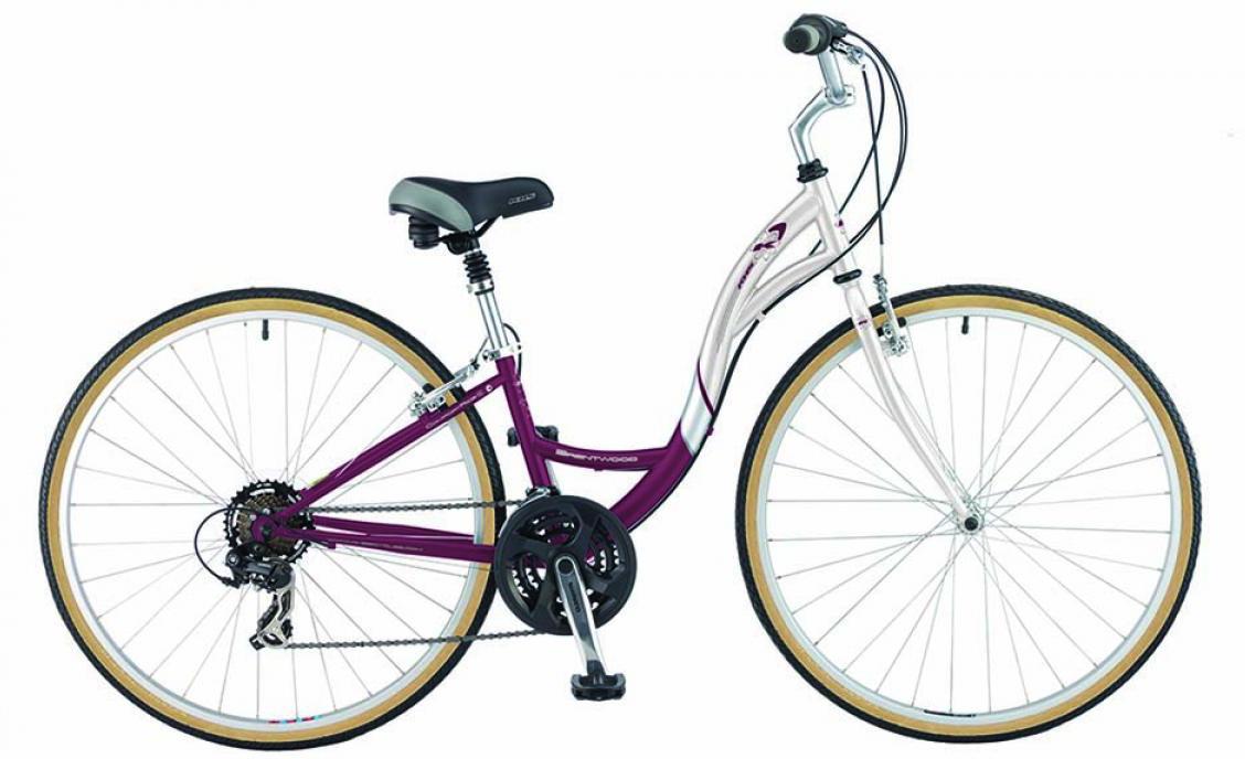 Велосипед городской KHS Brentwood Ladies 2015, цвет: фиолетовый, рама 14, колесо 28212027