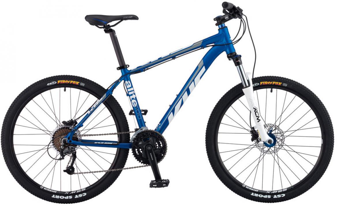 Велосипед горный KHS Alite 500 2016, цвет: синий, рама 13,5, колесо 26258