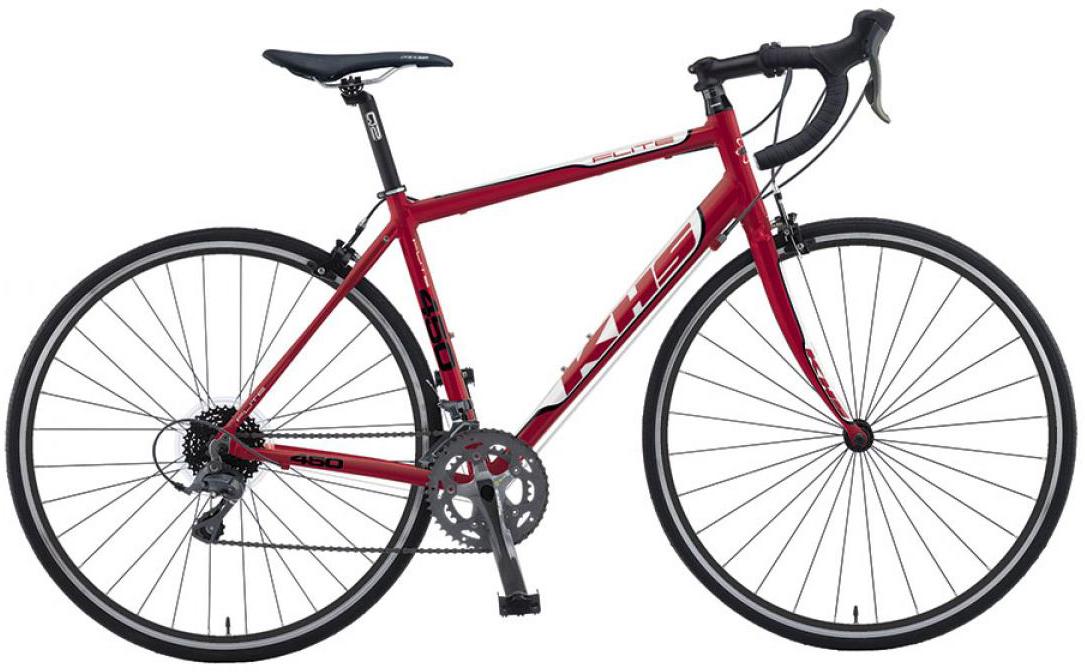 Велосипед шоссейный KHS Flite 450 2016, цвет: красный, рама 23, колесо 28258754